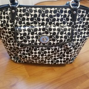 Coach purse black and white